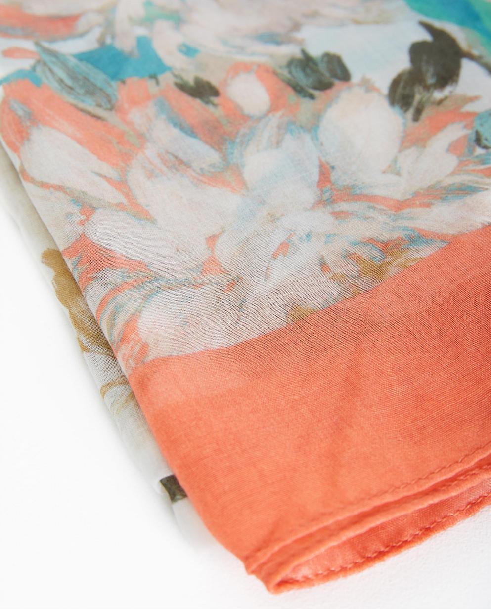 a518ca271abf ... avec imprimé floral - JBC. Bonneterie - assortment - Écharpe beige
